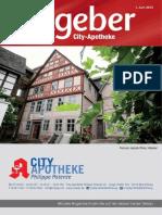 Ratgeber aus Ihrer City-Apotheke – Juni 2015
