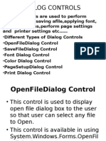 Dialog Controls