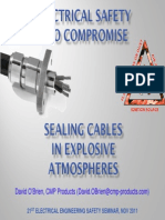 Sealing Cables in Explosive Atmospheres