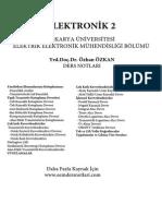 Elektronik 2 - Sakarya Üniversitesi Çağlar GÜL (Yrd.doç.Dr.Özhan Özkan) Ders Notları