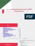 Raport Piata Fortei de Munca 2015