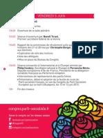 Programme du congrès de Poitiers