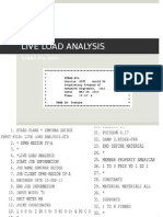 Live Load Analysis (STAAD.pro)