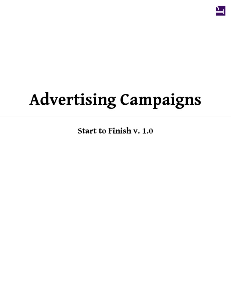 Advertising Campaigns Start to Finish | Request For Proposal | Advertising