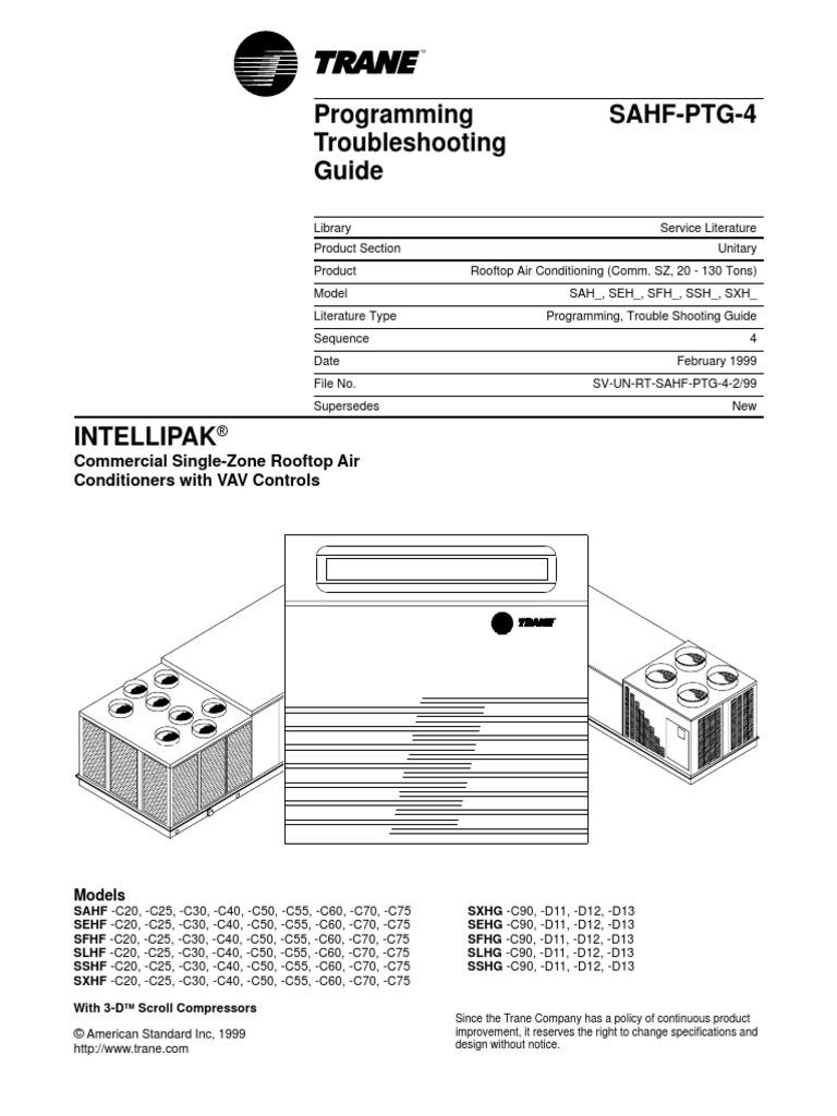 Trane Rooftop pdf | Hvac | Air Conditioning