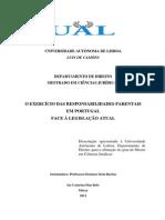 2012 - O Exercício das Responsabilidades Parentais em Portugal.