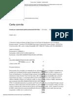 Carta Convite - Redações