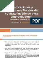 Bonificaciones y Deducciones Fiscales Del Contrato Indefinido Para Emprendedores