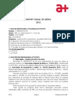 Raport Anual de Mediu 2012(1)