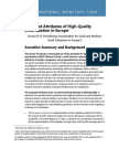 Proposed Attributes of High-Quality  Securitization in Europe