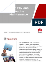 OptiX RTN 600 Routine Maintenance