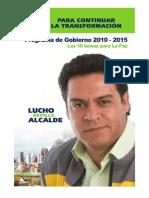 Luis Revilla - Programa de Gobierno 2010-2015