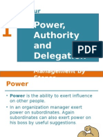 4. Power,Authority and Delegation