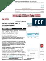 Antonio Patriota_ O Brasil e a Consolidação Da Paz - 28-01-2015 - Opinião - Folha de S
