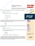 Polynomials-Addition and Subtraction