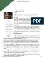 Aung San Suu Kyi - Biography - - Biography