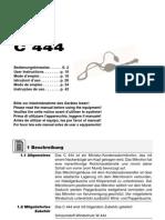 c444 Manual