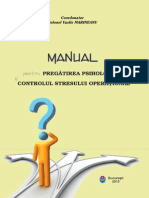 Manual pregatire psihologica si control stres operational