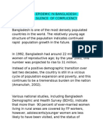 Possible Aids Epidemic in Bangladesh