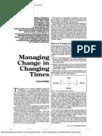 Managing Change in Changing Times, David Boddy