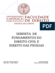 Sebenta Direito Civil Carolina Sampaio