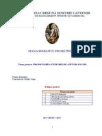 Managementul proiectului - proiect