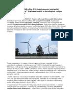 Rivoluzione Rinnovabili Oltre Il 38% Dei Consumi Energetici Nazionali