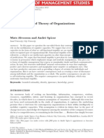 Alvesson and Spicer a Stupidity Based Theory of Organizations