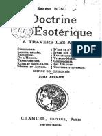 Bosc Ernest - La Doctrine Ésotérique à Travers Les Âges