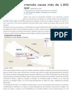 00. Noticias de El País Sobre El Terremoto en Nepal