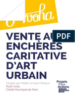 Catalogue Vente Caritative d'Art Urbain