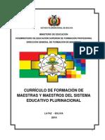 Curriculo de Formacion de Maestras y Maestros