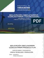 Ciencia Tecnologia y Produccion 2014 - Secundaria