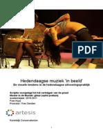 Onderzoeksproject Hedendaagse Muziek in Beeld