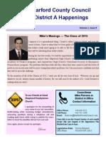 District A Happenings, June 1, 2015