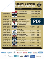 2013 Saints Schedule