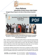 Press Release on West Africa an Emerging Market of Islamic Finance
