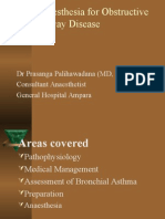 Anaesthesia for Obstructive Airway Disease