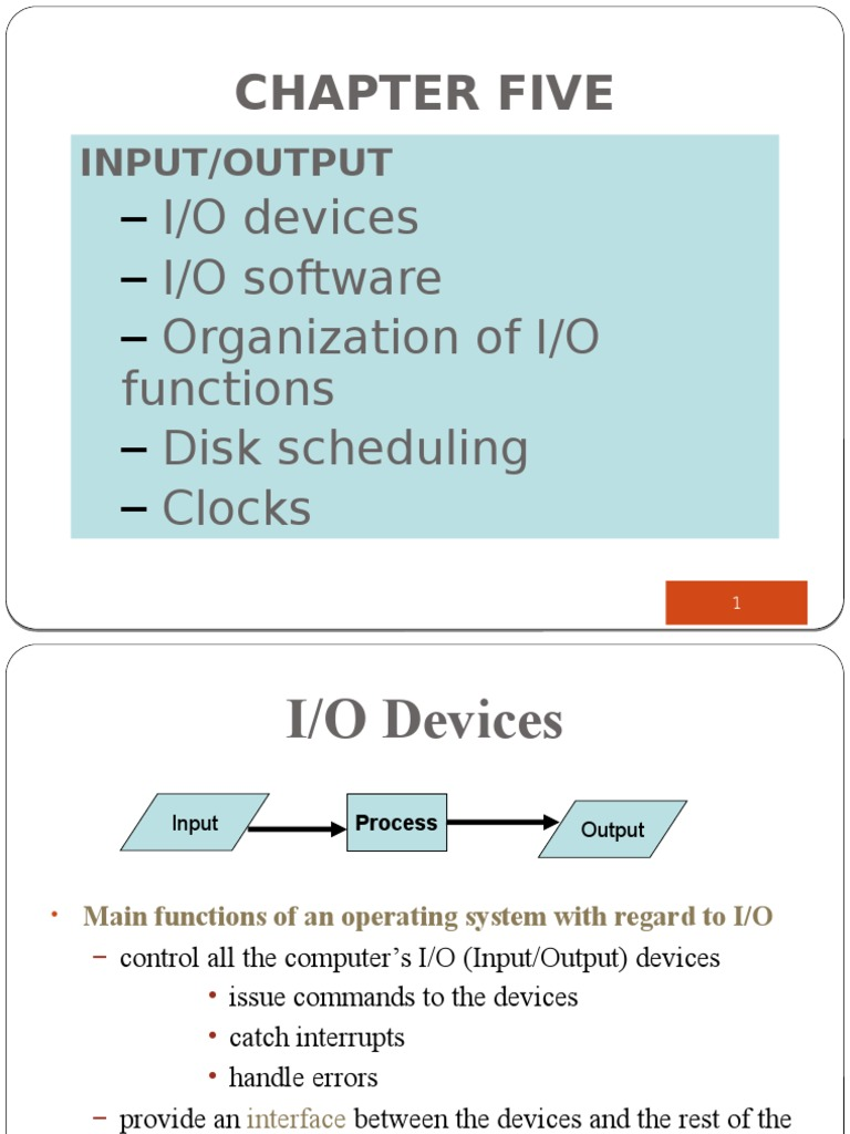 five input and output devices