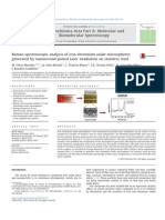 Raman Spectroscopic Analysis of Iron Chromium Oxide Microspheres Generated by Nanosecond Pulsed Laser Irradiation Abst