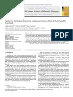 Síntesis, Propiedades Reológicas y Efecto Magnetoviscoso de Fe2O3-Ferrofluidos Parafinicos