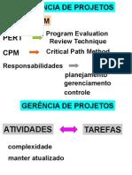 Aula de pesquisa operacional sobre PERT/CPM