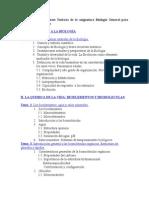 Programa de Clases de Biología General y Ciencias Ambientales
