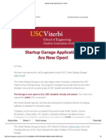 Startup Garage Applications Are Open!