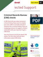 14. Criminal Records Bureau (CRB) Checks