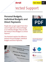 13. Personal Budgets, Individual Budgets and Direct Payments