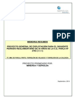 Documentos sobre la Mina de Sepiolita de ParlaTexto Memoria Resumen Parla 20140929