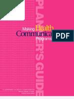 Making Health Communication Programs