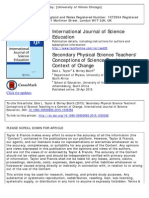 secondary physical science teacher´s conceptions of science teaching in a context of chanche