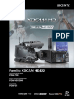 Catalogo Família XDCAMHD422